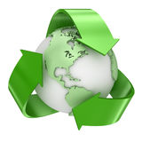 Recycle earth symbol Royalty Free Stock Photo