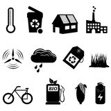 Recycle, eco and bio icons Royalty Free Stock Photography