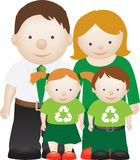 Recycle eco friendly family Stock Image