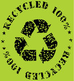 Recycle-ecological sign. Vector illustration of grunge recycle-ecological sign Stock Photography