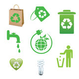 Recycle and ecology icons collection stock illustration