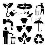 Recycle and ecology icons set great for any use. Vector EPS10. Royalty Free Stock Photos