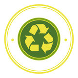 Recycle ecology symbol icon Royalty Free Stock Images