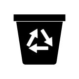 Recycle ecology trash can pictogram Royalty Free Stock Photography