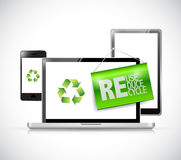 Recycle electronic concept illustration Royalty Free Stock Images