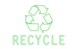 Recycle embroidery Royalty Free Stock Images