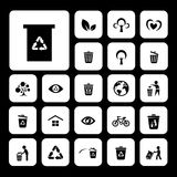 Recycle and environment icon. Recycle and environment vector icon set Royalty Free Stock Images