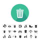 Recycle and environment icon. Recycle and environment vector icon set Royalty Free Stock Photo