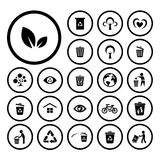 Recycle and environment icon. Recycle and environment vector icon set Royalty Free Stock Image