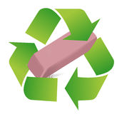 Recycle eraser illustration design Royalty Free Stock Photo
