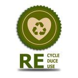 Recycle förminskar återanvänder arkivfoton