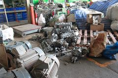 Recycle factory Stock Images