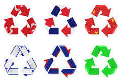 Recycle flag Royalty Free Stock Photo