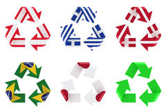 Recycle flag Royalty Free Stock Images