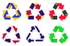 Recycle flag Stock Photos