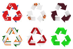 Recycle flag Royalty Free Stock Image