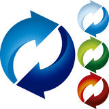 Recycle four elements Stock Photography