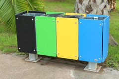 Recycle garbage bins Royalty Free Stock Photos