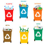 Recycle garbage bins. Separation concept. Stock Photo