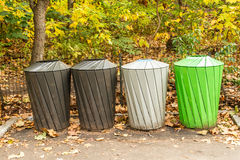Recycle garbage cans Stock Photos