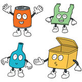 Recycle garbage cartoon. Vector set of recycle garbage cartoon Royalty Free Stock Image