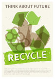 Recycle garbage vector illustration Royalty Free Stock Photos