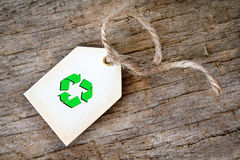 Recycle Gift Tag Stock Photo