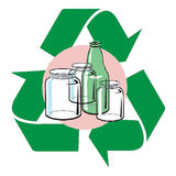 Recycle glass Stock Photos