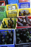 Recycle glass bottles Stock Photography