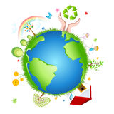 Recycle globe Stock Photos