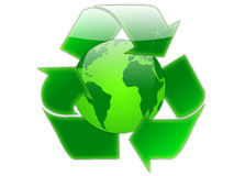 Recycle globe Stock Photo