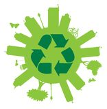 Recycle On The Globe Stock Photos
