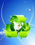 Recycle Globe on Abstract Background Stock Photo