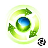 Recycle Globe Icon Stock Photography