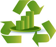 Recycle graph Royalty Free Stock Photography