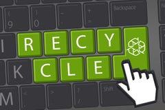 Recycle graphics stock photo