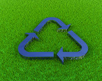 Recycle grass Royalty Free Stock Images