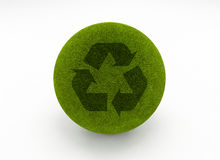 Recycle grass globe Stock Photography