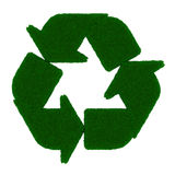 Recycle grass symbol Stock Image