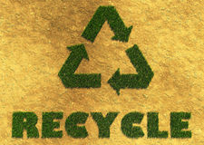 Recycle grass symbol Royalty Free Stock Photo