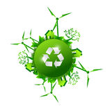 Recycle green nature concept illustration design Stock Photos