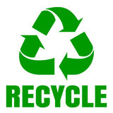 Recycle green . Sign of recycling. Waste recycling Stock Photography