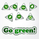 Recycle green stickers Stock Photo