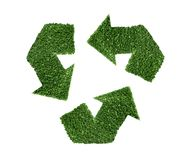 Recycle green symbol illustration Royalty Free Stock Photos