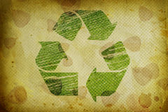 Recycle grunge background. Stock Images