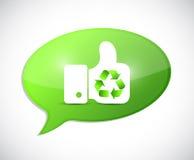 Recycle handprint illustration design Royalty Free Stock Photos
