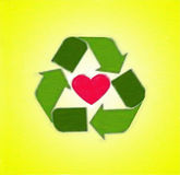 Recycle from the heart Royalty Free Stock Image