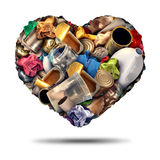 Recycle Heart Stock Image