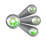 Recycle help concept illustration design Royalty Free Stock Photos