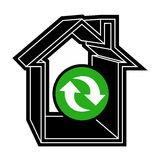 Recycle house Royalty Free Stock Photos